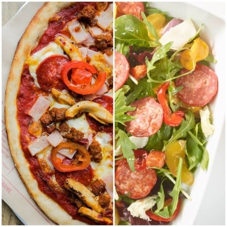 You can get your meat fix in a pizza OR a salad at PizzaStorm!