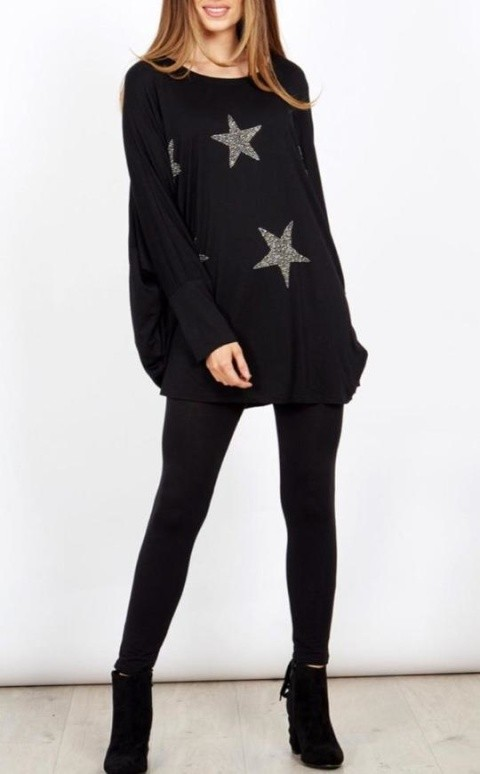 Black over sized batwing jumper