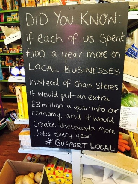 Some Food for Thought for all of our wonderful locals!