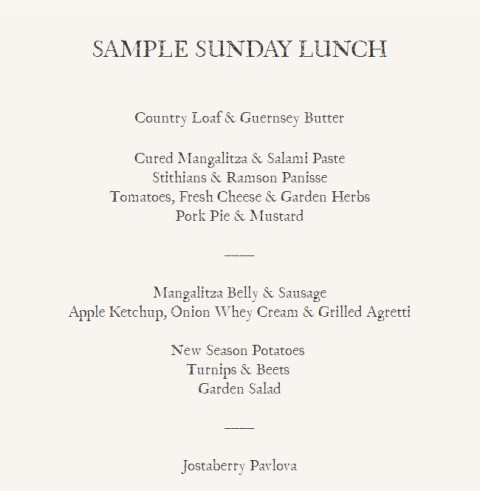 Come and sample our sunday lunch menu!