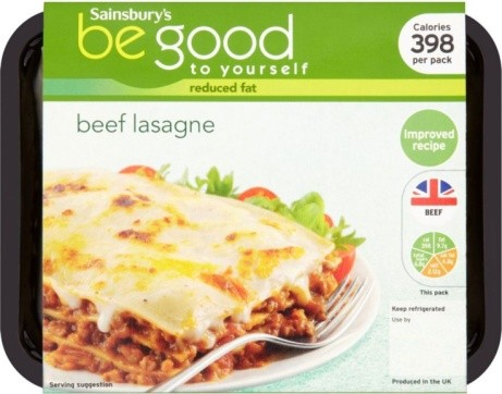 Sainsbury's Beef Lasagne, Be Good To Yourself 390g: £2.00!