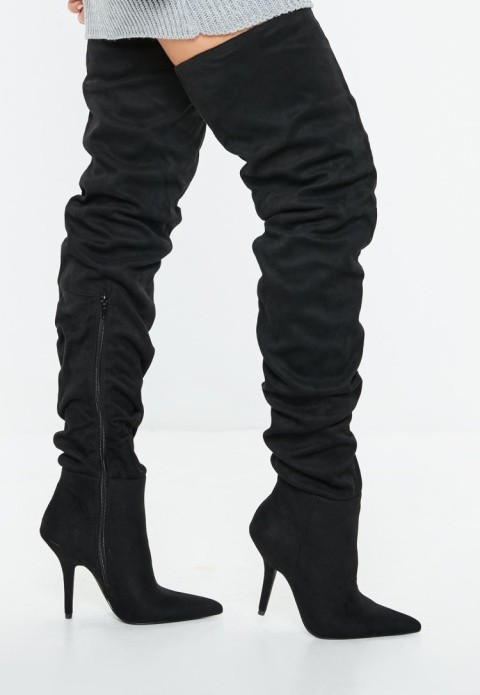 AUTUMN STYLE - black slouchy over the knee boots £55.00!