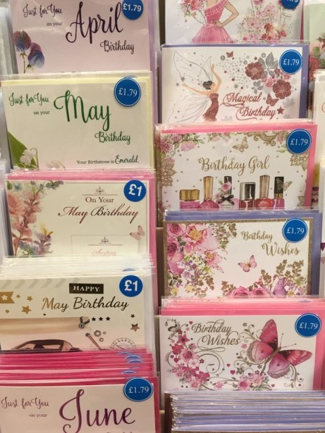 Cards for occassions and ages 18 - 100 from just £1.00!