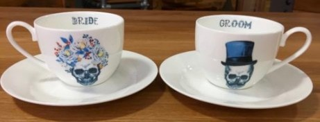 Perfect Wedding Gifts - Bride and Groom Cup and Saucer Set £55.00!