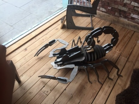 This awesome 4ft long Scorpion Structure is now in-store - you choose the finish or paint!