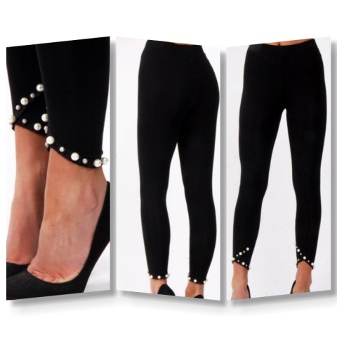 High  waisted  pearl  leggins
