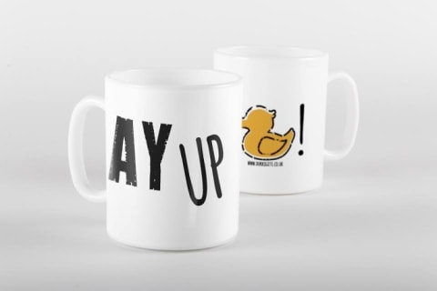 Mugs mekk a grett Chrissmuss gift an' we av a whole load of different designs at just £10.00!
