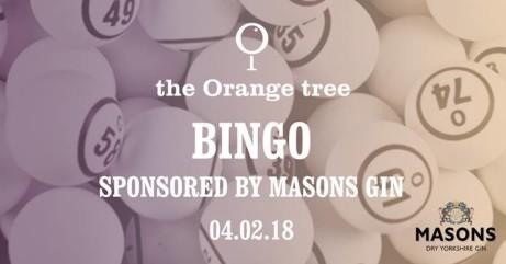 Bingo! Sponsored by Mason's Gin
