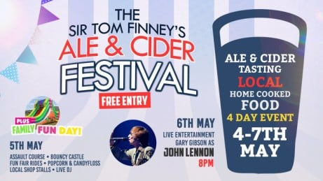 May Bank Holiday - Ale & Cider Festival. Fun Day. Live Entertainment