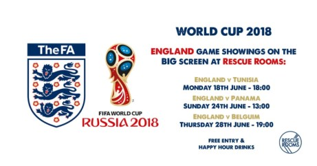 WATCH THE WORLD CUP AT RESCUE ROOMS!