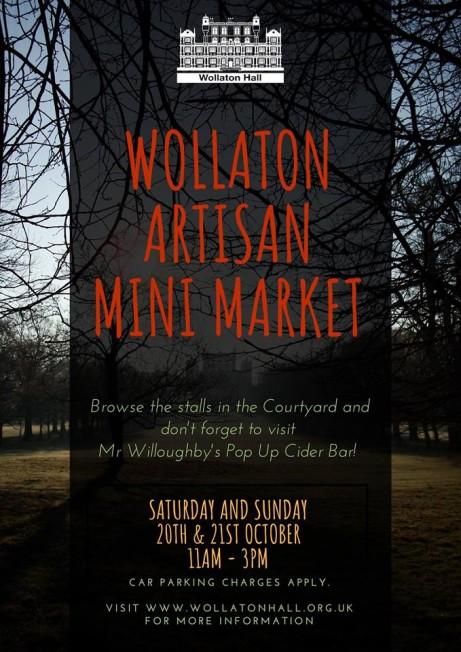 Wollaton Artisan Mini Market Sat 20th Oct - Sun 21st Oct