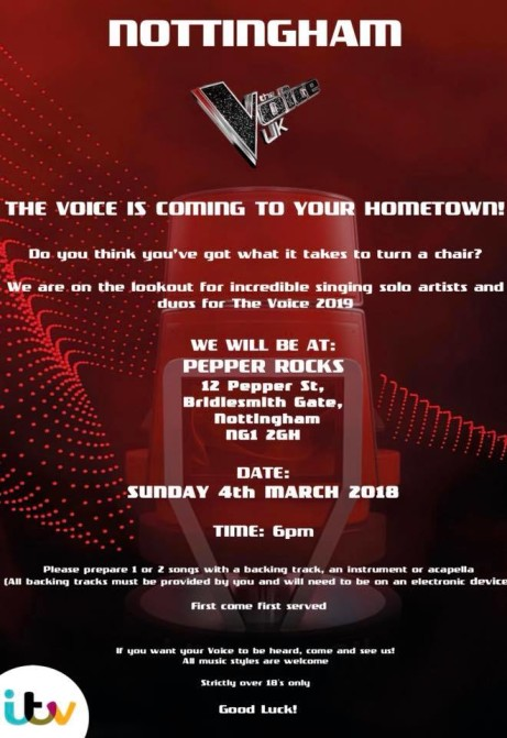 The Voice Auditions at Pepper Rocks