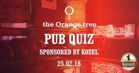 Pub Quiz! at the Orange tree