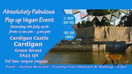 Absolutely Fabulous vegan Pop up at Cardigan Castle