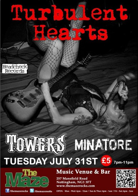 Turbulent Hearts with Towers and Minatore