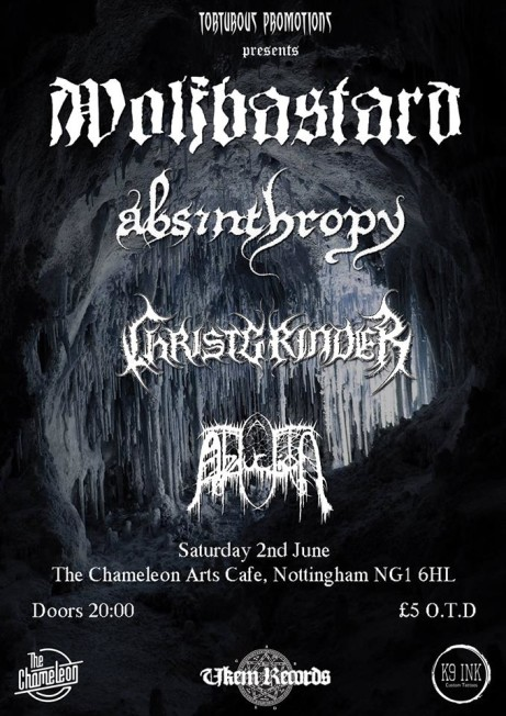 Wolfbastard + Absinthropy + Christgrinder + Abduction