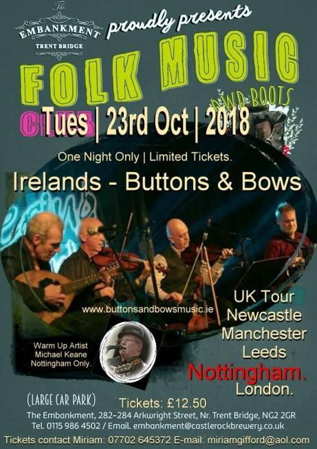 Ireland's Buttons & Bows UK Tour