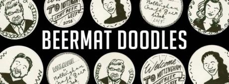 Beermat Doodles: Emily Catherine at Malt Cross