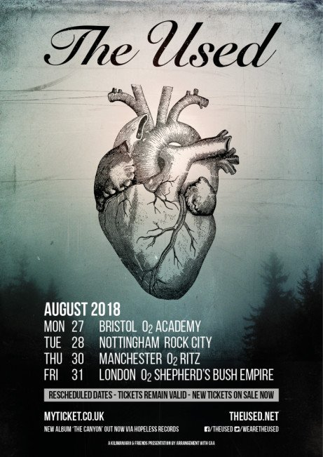 THE USED *rescheduled date*