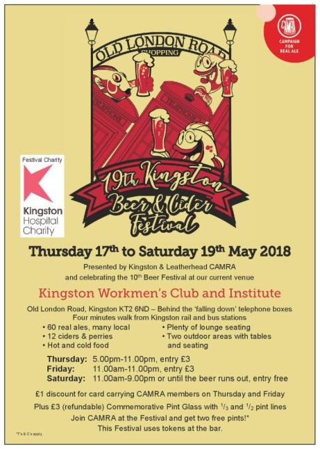 19th Kingston Beer & Cider Festival