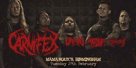Carnifex, Oceano, Aversions Crown & Disentomb