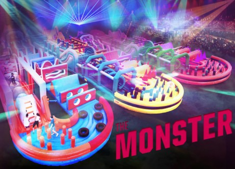 THE MONSTER WORLD'S CRAZIEST BOUNCY CASTLE