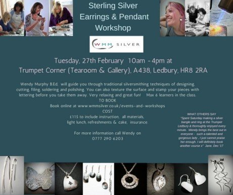 Sterling silver Earrings & Pendant Workshop