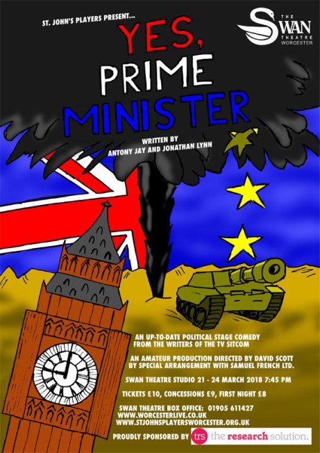 St John's Players present Yes, Prime Minister by Antony Jay and Jonathan Lynn