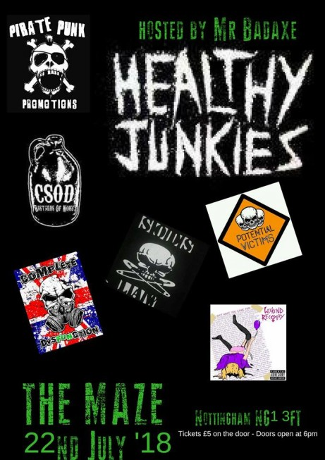 Healthy Junkies/weekend recovery/potential victims