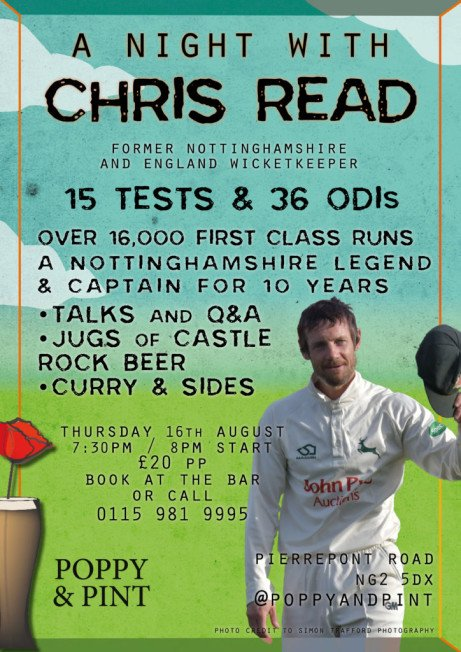 AN EVENING WITH CHRIS READ AT THE POPPY AND PINT