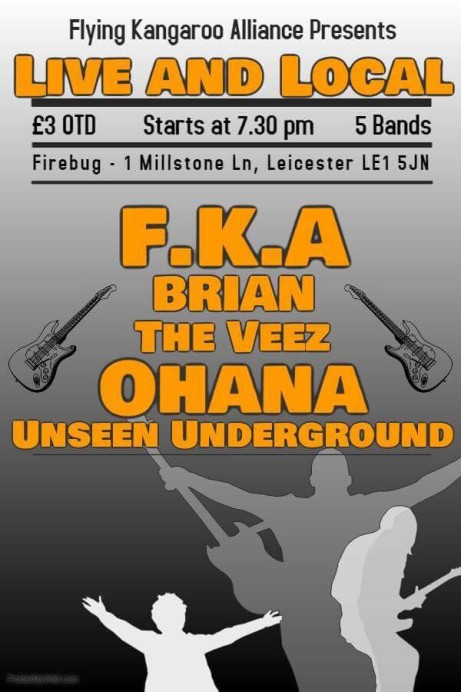 FKA present: live and local!