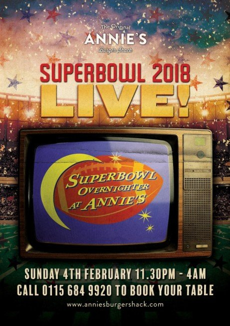 Superbowl overnighter at Annie's 2018