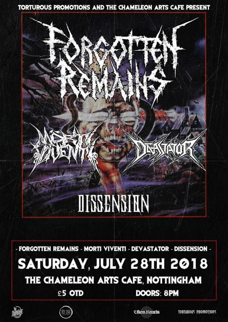 Forgotten Remains + Morti Viventi + Devastator + Dissension