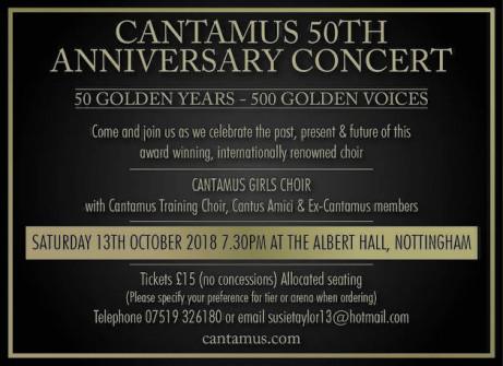 Cantamus 50th Anniversary Weekend