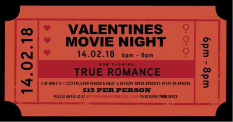 Valentines Movie Night - True Romance & 500 Days Of Summer