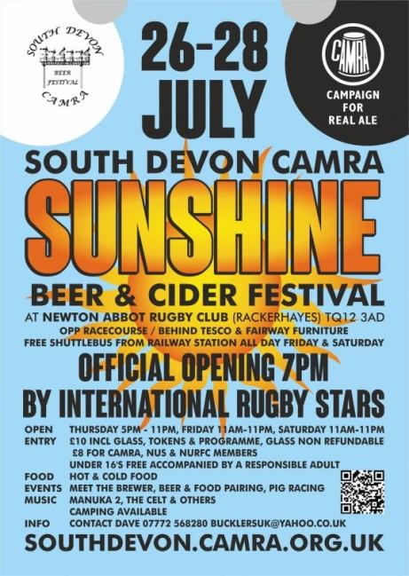 South Devon Newton Abbot Sunshine Beer & Cider Festival
