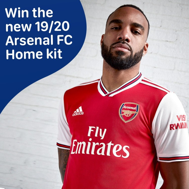 WIN- Arsenal Adult 19/20 Home Shirt
