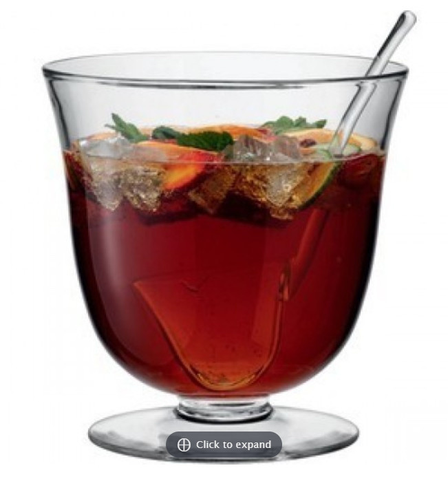 Handmade Glass Punch Bowl and Ladle