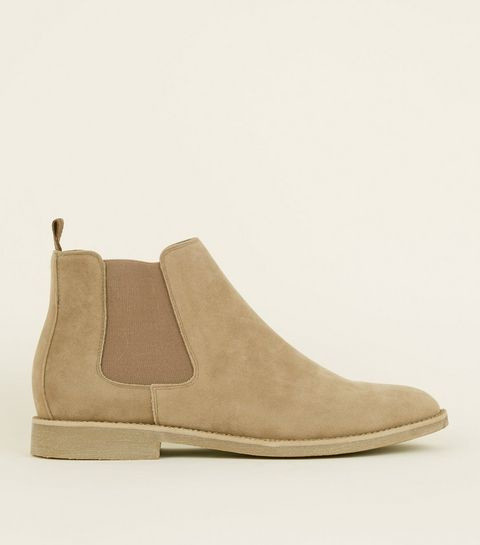 NEW ARRIVALS - Stone Faux Suede Chelsea Boots £29.99