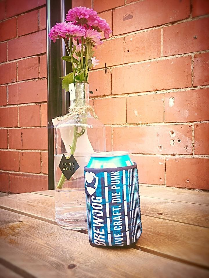 We have our out door seating, it's super warm, keep your can of delicious beer cold with........