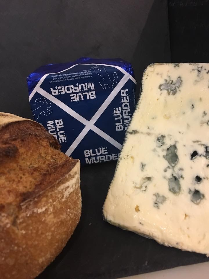 Yummy blue murder with hambleton bakery's sourdough. Perfect weekend treat!!