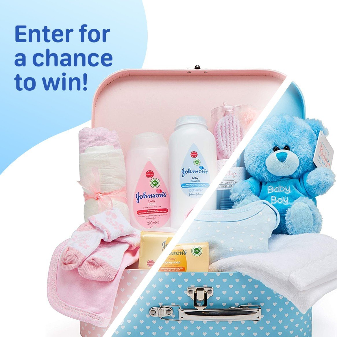 WIN a Boy OR Girls New Born Baby Gift Set!