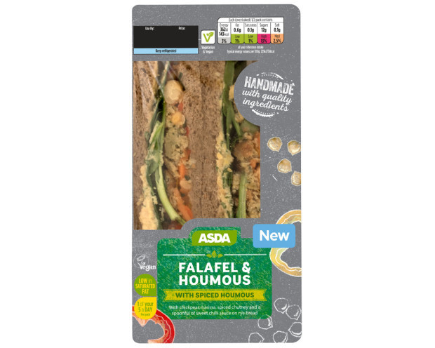 VEGAN OPTIONS - Falafel and Houmous Sandwich: £2.50!