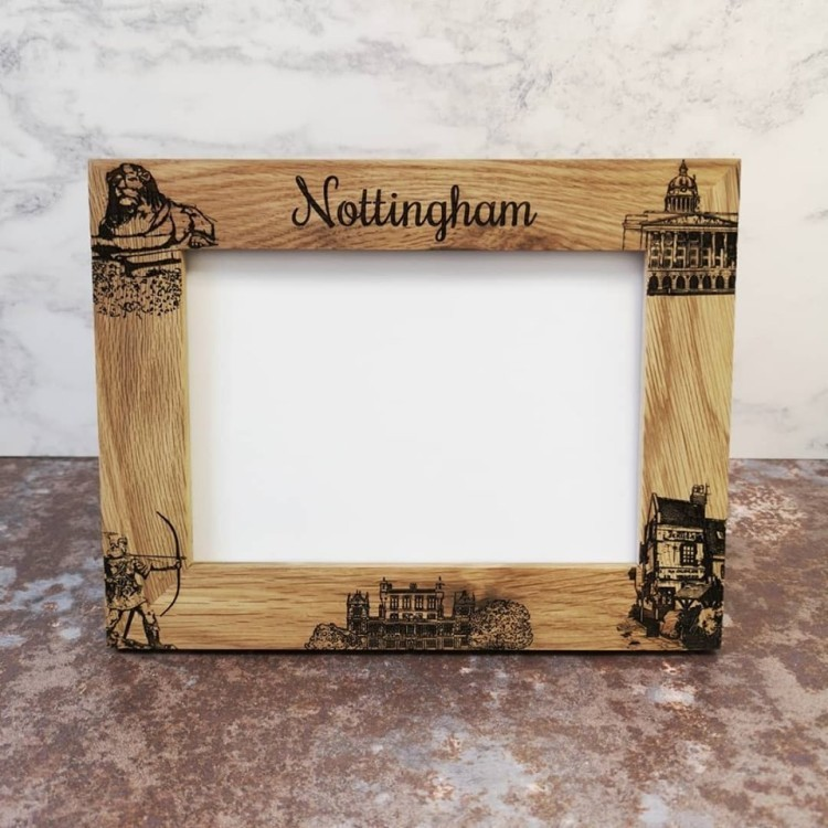 Brand New engraved solid Oak picture frames
