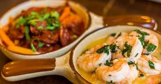 Try one of our Sharing Starters, like the Mediterranean dips just £9.90!