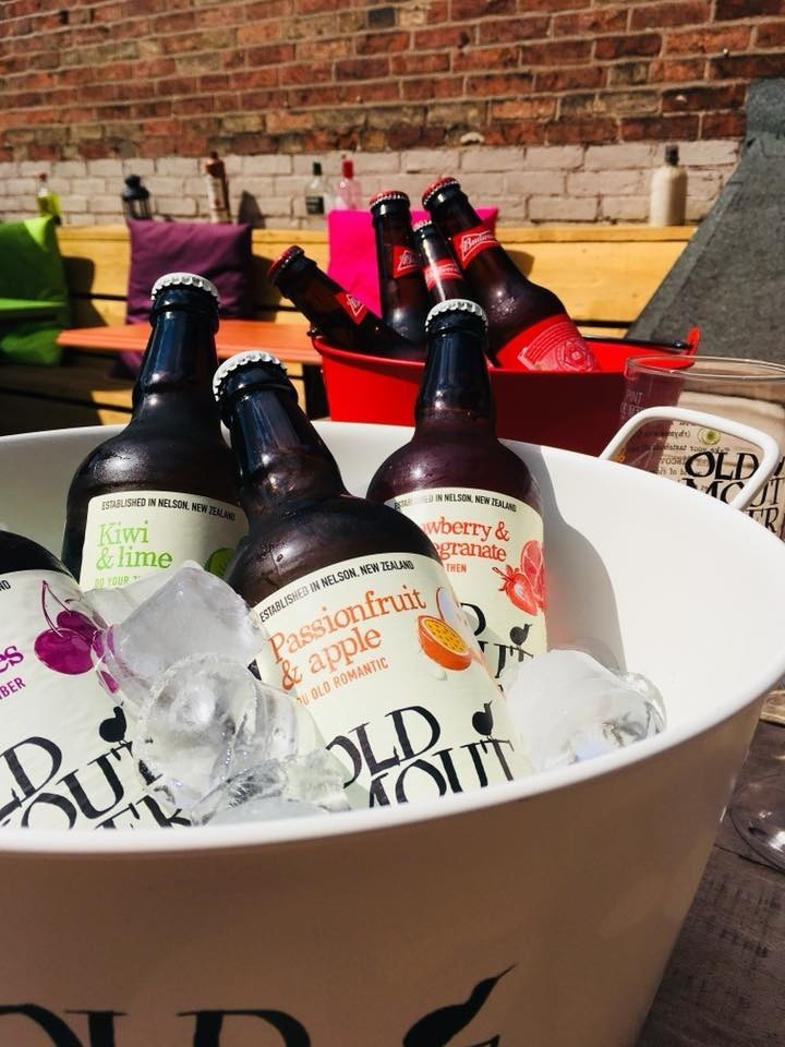 Feeling hot hot hot, come and cool down with a nice cold bottle in our beer garden!