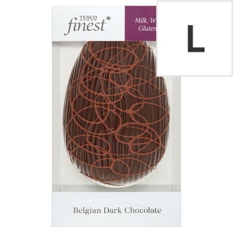 Tesco Finest Free From Belgian Dark Chocolate Egg 200G