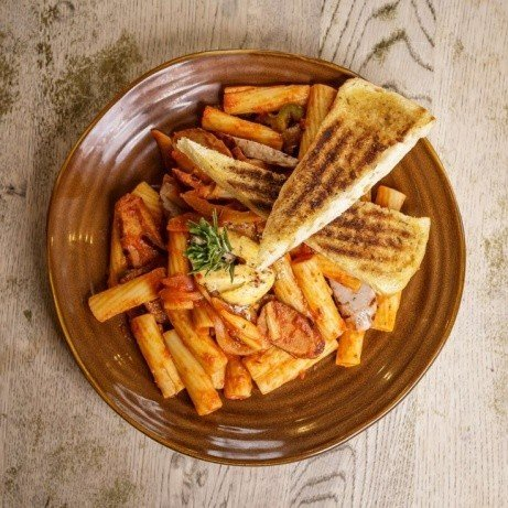 Try our Rigatoni Spicy Italian Pasta!