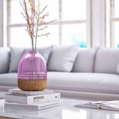 Pitaro Glass and Cork Vase Purple: £70.00!