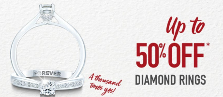 Shop our Sale and SAVE up to 50% on Diamond Rings!
